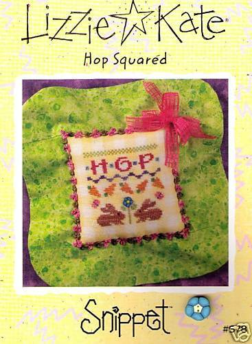Clay Button Lizzie Kate Easter Hop Squared Chart