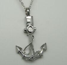 Anchor Cremation Jewelry Boat Urn Necklace Ship Sailor Keepsake Pendant