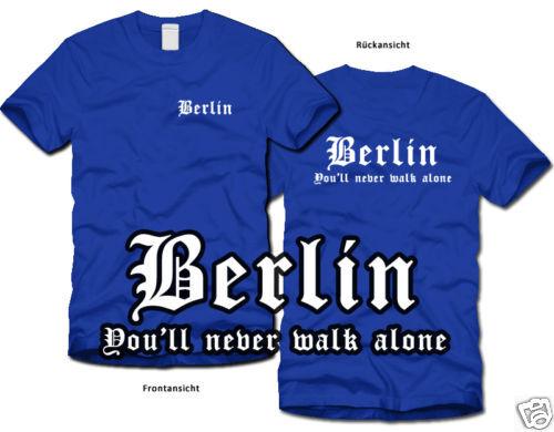 S-XL Never walk alone Ultras BERLIN Fan-T-Shirt