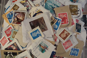 1kg~GB Used Charity Kiloware Stamps~on paper UK Seller