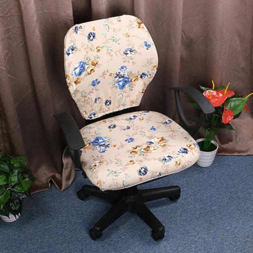 Blumen Bürostuhl Stuhlhussen Stuhlbezug Drehstuhl Hussen für Bürostuhl