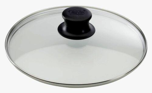 Pfannen 24cm Pfannendeckel L2 ELO Glasdeckel Sichtkochen ABS Kunststoffknauf f