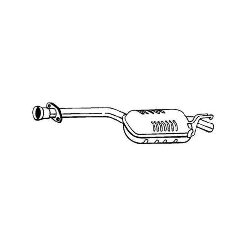 Mittelschalldämpfer MERCEDES 190 W201 2,5 D Diesel NEU