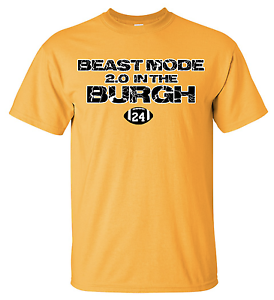 buy online 0bd78 1ab86 Details about Beast Mode Burgh Pittsburgh Steelers Shirt Tee 84 T-Shirt  James Conner 24 Pitt