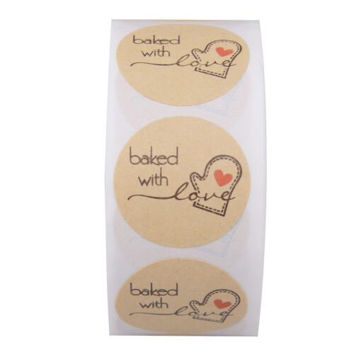 500 thank you stickers lable stickers scrapbooking bake with love hand made d YF
