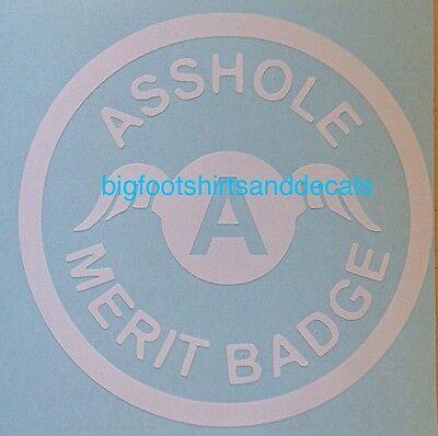 Funny Car Decal A$$Hole Merit Badge Award Trophy Car Truck Window Vinyl Sticker