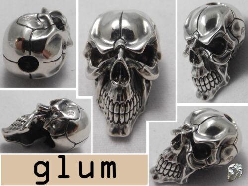 bracelets Déprimants Skull Bead Paracord longes Nickel-Argent