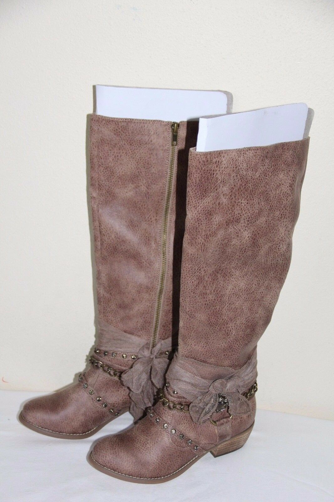 NEW Not Rated  Women's Tall Winter Cowboy Knee High Boots  shoes Size 6
