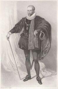 Henri-Scheffer-Blaise-Montesquieu-Lassera-Massencome-Seigneur-Montluc-Gravure