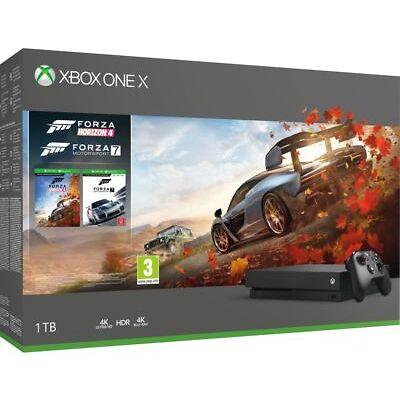 MICROSOFT Xbox One X  - DAMAGED BOX MISSING ACCESSORIES