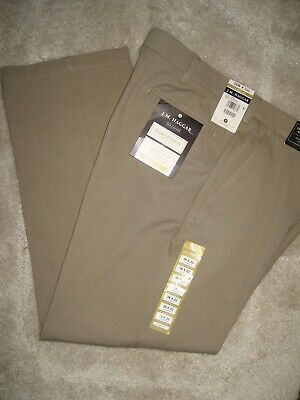 LT YELLOW 40 X 32 HAGGAR RELAXED STRAIGHT FLAT FRONT LIFE KHAKIS NWT