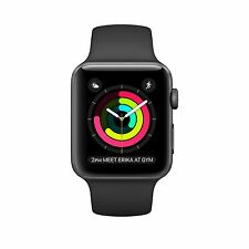 Apple Watch Series 1 42mm Case Space Gray Aluminum Sport Band Black (MP032LL/A)