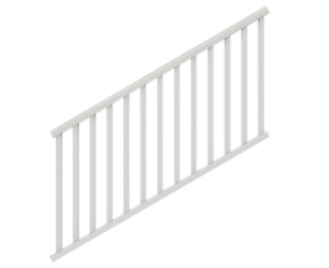 Traditional-6-ft-x-36-in-White-PolyComposite-Stair-Rail-Kit-w-Square-Balusters