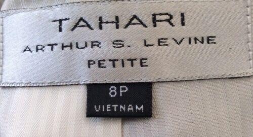 pezzi Euc marroni 8p Tuta Tahari strisce con cotone 2 donna a marrone in taglia wf6xOqHIg