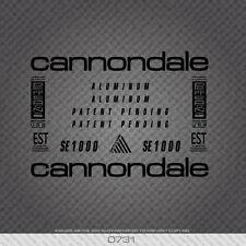 0731 Cannondale SE1000 Bicicletta Adesivi-Decalcomanie-Transfers-Nero
