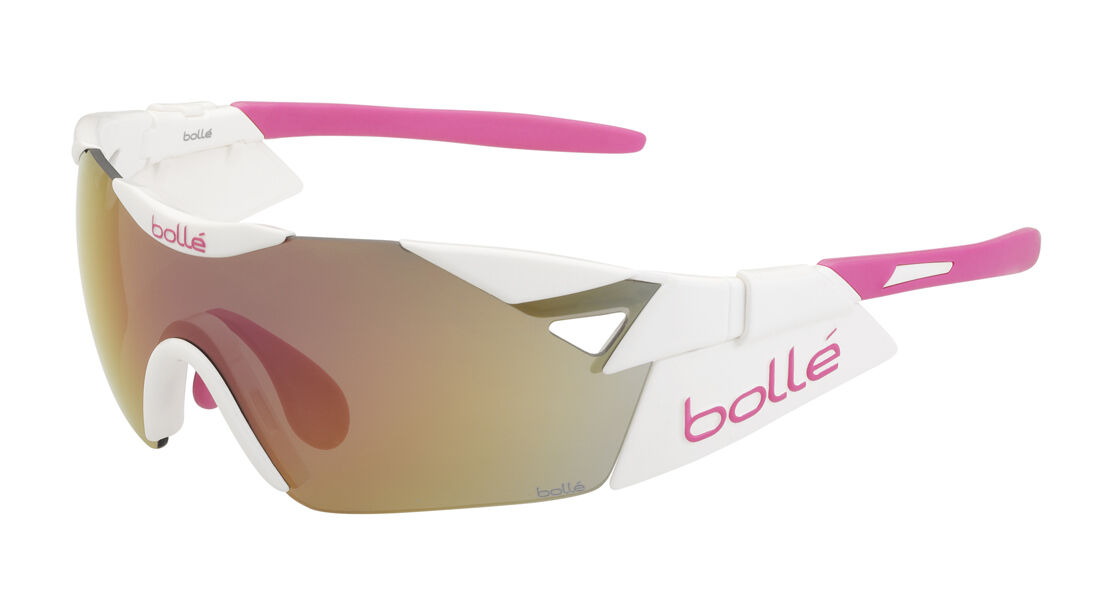 Glasses Bollé 6th Sense S Shiny White Lens  pink-gold glasses bolle' 6th sense  hot limited edition
