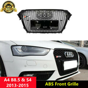 A4-Front-Grill-Mesh-Grille-for-Audi-A4-B8-5-amp-S4-2013-15-RS4-Style-Black