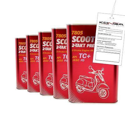 5 Liter Mannol 7805 SCOOTER 2-TAKT PREMIUM Motoröl