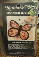 Rainbow Reed Monarch Butterfly Snip & Glue Reed Craft Kit Vintage