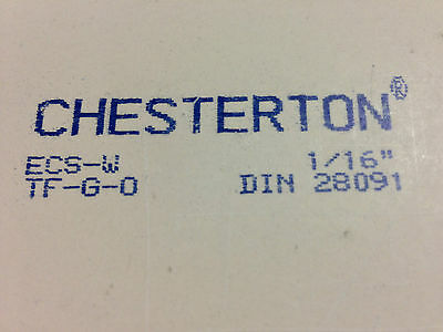 """Liquid Glues & Cements Frank Lot Of 5 New Chesterton Ecs-w Ptfe Sheet Gasket 1/16""""x12""""x12"""" Free Priority Ship To Enjoy High Reputation At Home And Abroad"""