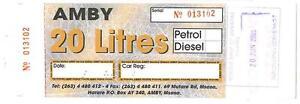 "AMBY 20 LITRE PETROL GAS RATION COUPON /""BANKNOTE/"" ZIMBABWE"