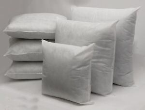 Pack Of 2 Hollowfibre Cushion Pads Inners Inserts Fillers Scatters-All Sizes