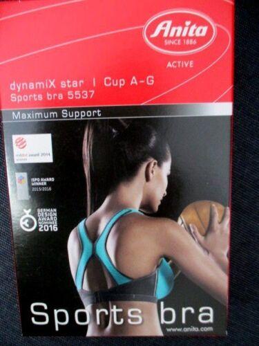 Anita Active  dynamiX star    Sport-BH X-Back 5537 364 Peacock Anthrazit A5#11