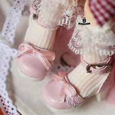 1/6 BJD Shoes Yosd Lolita bow lace Pink Shoes Dollfie Luts Dollmore AOD DIM DOD