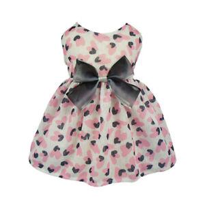 Fitwarm-Fairy-Pink-Dog-Dress-Princess-Pet-Clothes-Party-Apparel-Spring-Shirt-NEW