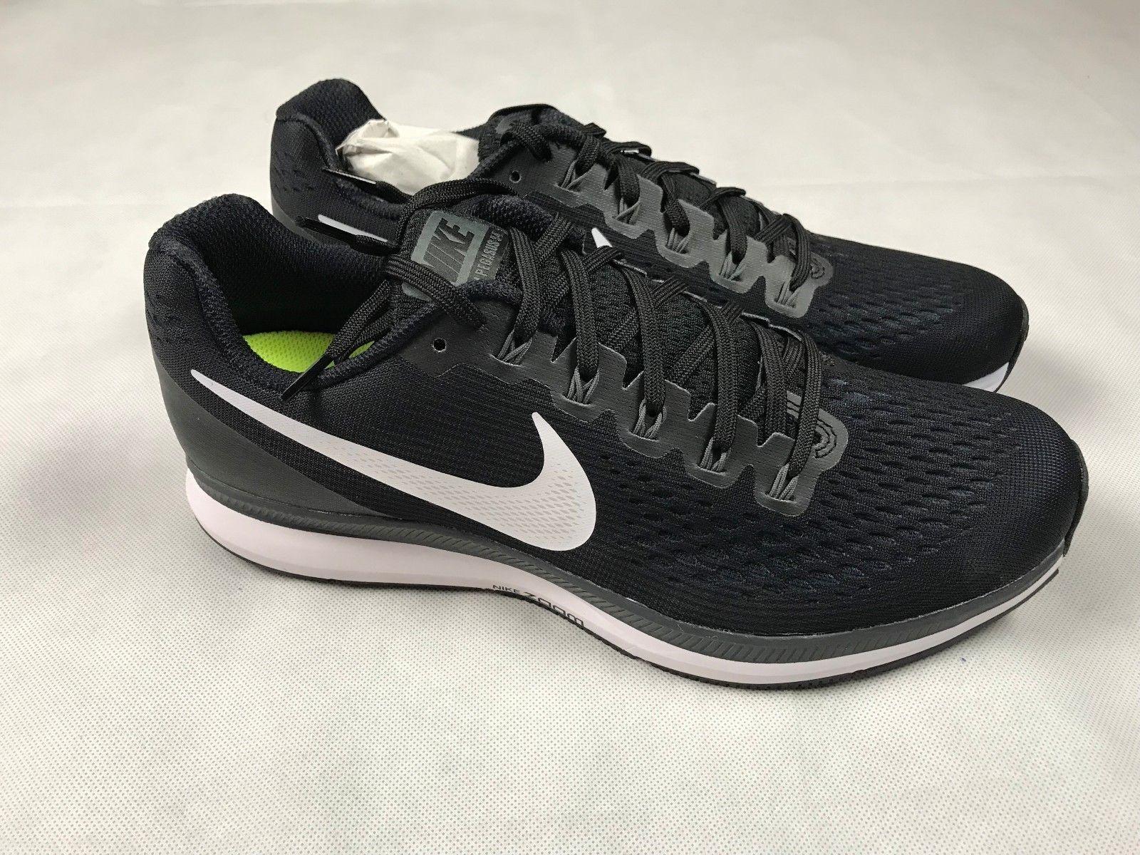 Nike Women's Air Zoom Pegasus 34 Black White Grey 880560-001 Sz 9.5 New