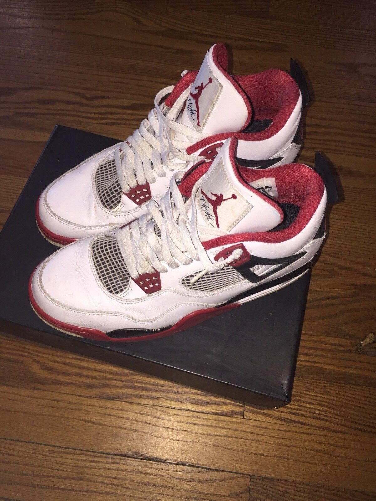 Air Jordan 4 Fire Red  Comfortable New shoes for men and women, limited time discount