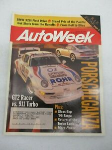 AUTO WEEK MAGAZINE OCTOBER 30, 1995 GT2 RACER VS PORSCHE 911 TURBO BMW 328I CAR