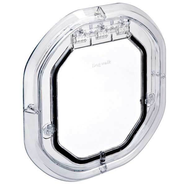 Pet Tek Dogwalk Glass Door Fitting Clear Medium Dog Flap Ebay