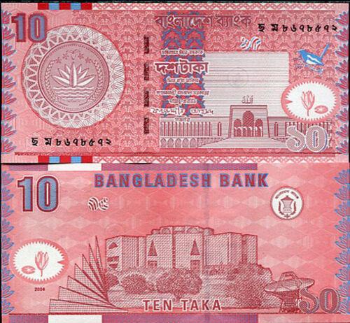 BANGLADESH 10 TAKA 2004 P 39 UNC