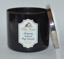 Bath and Body Works Teakwood High Intensity White Barn 3-Wick Candle, in Box
