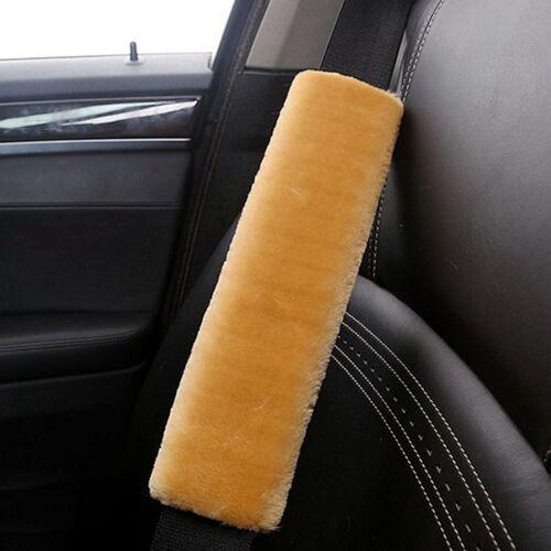 2x Fancy Good Feeling Soft Thick  Seat Safty Belt Shoulder Strap Cover Cushion