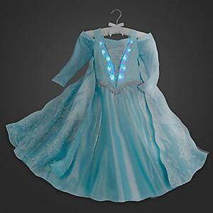 Image is loading DISNEY-STORE-COSTUME-LIGHT-UP-ELSA-FROZEN-PRINCESS- & DISNEY STORE COSTUME LIGHT UP ELSA FROZEN PRINCESS DRESS Size 10   eBay