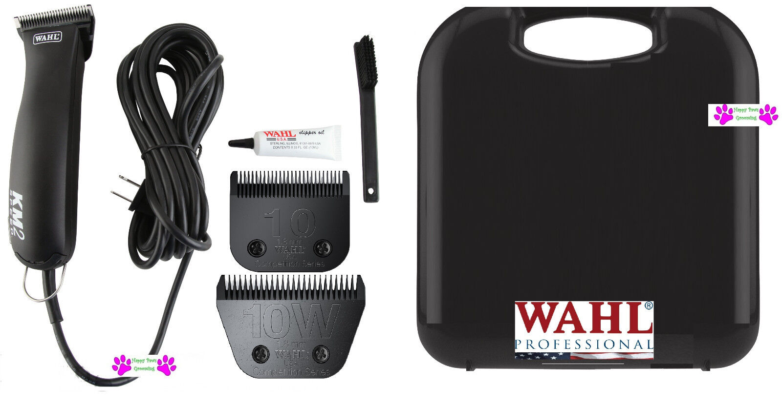 Wahl KM2 PRO HEAVY DUTY 2-Speed Clipper SET-10 WIDE&10  Blade,CASE-HORSE GROOMING  100% genuine counter guarantee