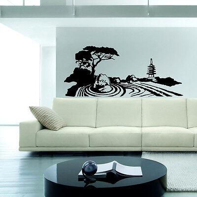 Zen Garden Wall Decal sticker vinyl decor mural bedroom kitchen art buddha japan