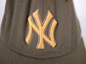 release date: 2baa1 da594 Image is loading NEW-ERA-100-Wool-NY-Yankees-Olive-Drab-