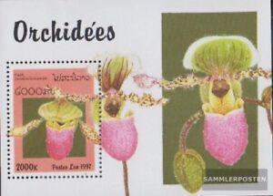 Laos-Block161-kompl-Ausg-postfrisch-1997-Orchideen