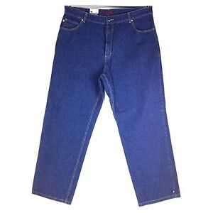 OLD SCHOOL BAGGY MEN/'S LONG DENIM JEANS, RED FLY ASSORTED STYLE
