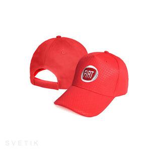 2019 Neuestes Design Fiat Carbon Kappe Rot Gestickte Logo Mütze Baseball Cap Herren Damen Stickerei