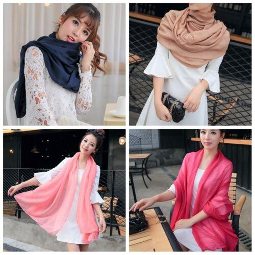 Women/'s Long Candy Colors Soft Cotton Scarf Wrap Shawl Scarves Fashion Stole