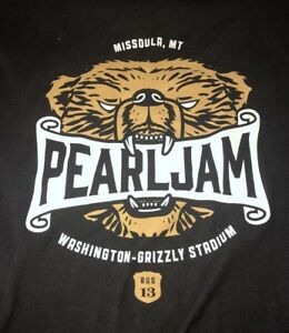 Details about PEARL JAM - Missoula Grizzly Biting Logo T-SHIRT Size XXL  2018 away shows 2xl