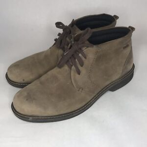 5ca6df13d431 ECCO Gore Tex Distressed Brown Leather Lace Chukka Dessert Boots ...