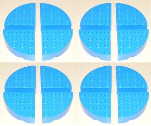 8 ~ 1x1 Blue Round Finishing Tile Bricks ~ New Lego Parts ~
