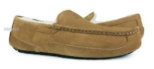 d329d34c8e6 Details about UGG Ascot Chestnut Brown Suede Fur Slippers Mens Size 10  (Fits size 9) *NIB*