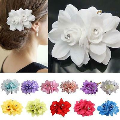 New Beauteous Hair Flower Clip Pin Bridal Wedding Prom Party for Girl Women FB
