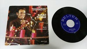 """MANOLO ESCOBAR VILLANCICOS POPULARES SINGLE 7"""" VINYL SPANISH EDITION MEGA RARE!"""